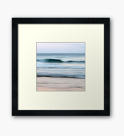 Let It Roll Right By You Framed Print