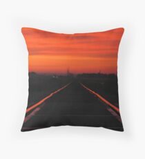 11-11-11........Fire In The Sky Throw Pillow