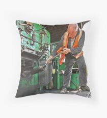 Stoker on Steam Engine 2705 Throw Pillow