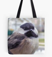Puffy Lil Chickadee Tote Bag