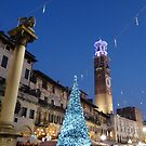 Season Greetings to all my RB friends. Night view of Piazza delle Erbe, Verona by presbi