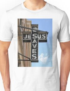 Jesus Saves Sign Unisex T-Shirt
