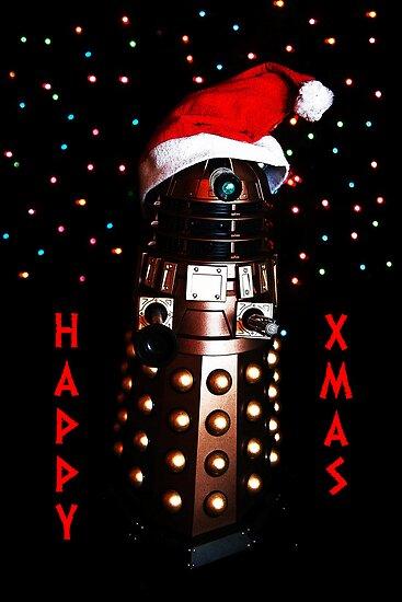 Happy Christmas Dalek Christmas Card Cards by ste6475