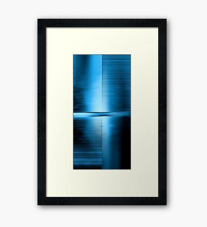 Shimmering Blue Framed Print