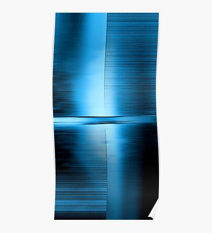 Shimmering Blue Poster