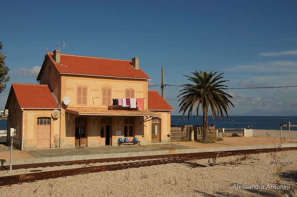 old Ile Rousse's station by Alessandra Antonini