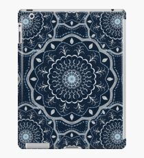 Black White Blue Mandala iPad Case/Skin