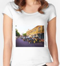 Vintage, Antique Cars on Display, Color Women's Fitted Scoop T-Shirt