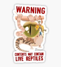 WARNING – LIVE REPTILES Sticker