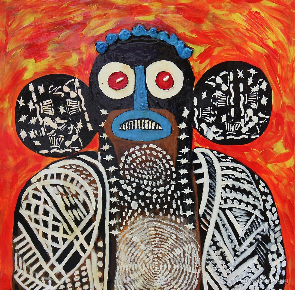 A dogon mask by salvadorewoody