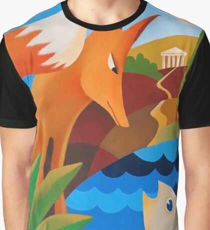 THE FOX AND THE FISH Graphic T-Shirt
