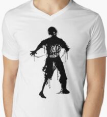 Decaying Zombie Mens V-Neck T-Shirt