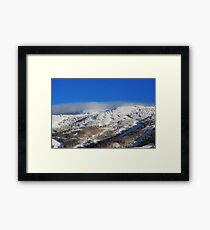 Fog Clouds on the Mountain  Framed Print