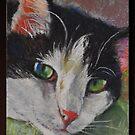 Original Pastel on Wallis Sanded Pastel Paper by Magaly Burton