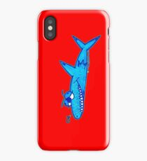 Sharky On Red: iPhone Case iPhone Case/Skin