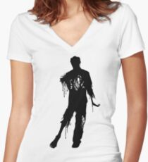 Decaying Zombie 2 Women's Fitted V-Neck T-Shirt