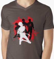 Decaying Zombies Men's V-Neck T-Shirt