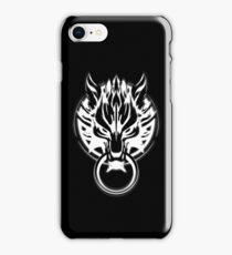Cloud Strife's Wolf Emblem (White) iPhone Case/Skin