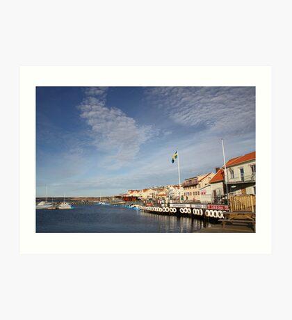 Lysekil harbour, West Sweden Art Print