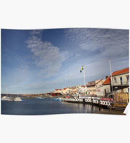 Lysekil harbour, West Sweden Poster