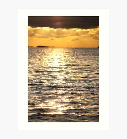 Sunset near Lysekil Art Print