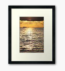 Sunset near Lysekil Framed Print