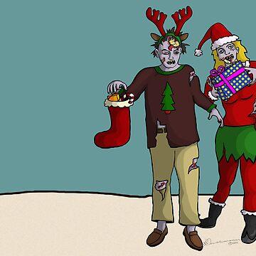 Xmas Zombies by leeleeandthebee