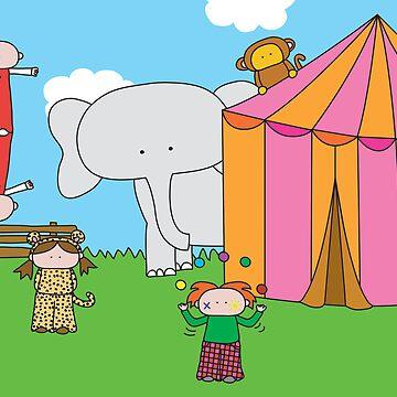 Circus - Print, Card & Poster by oekies