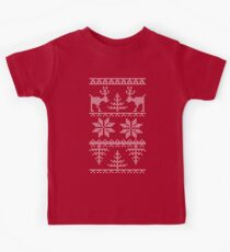 nordic knit pattern Kids Tee