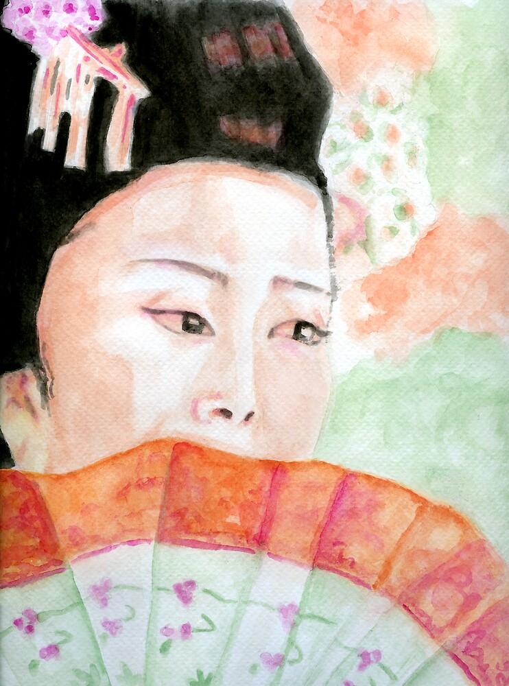 Spring Geisha by Karen Clark