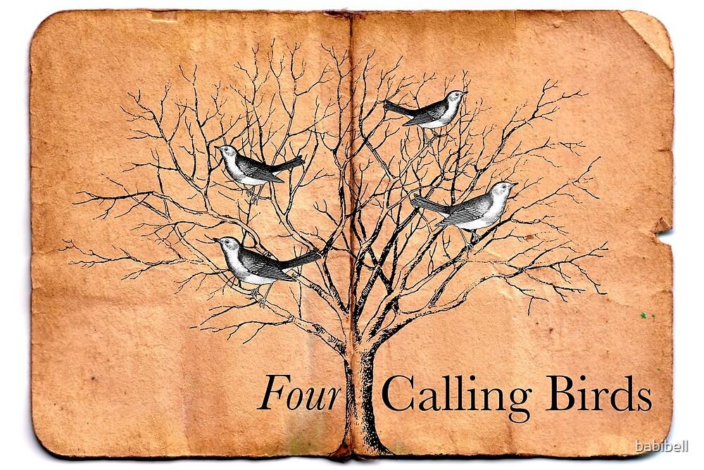 Four Calling Birds by babibell
