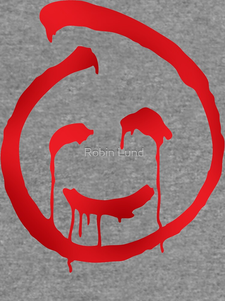 Red John Smiley Symbol Lightweight Sweatshirt By Kosmonaut Redbubble
