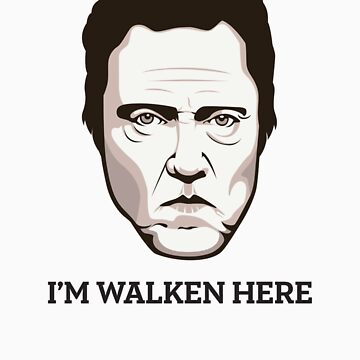 "Christopher Walken - ""Walken Here"" T-Shirt by FacesOfAwesome"
