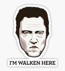 """Christopher Walken - """"Walken Here"""" T-Shirt Sticker"""