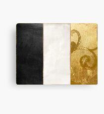Fashion Gold and Black Flag France Canvas Print