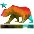 California State Flag Bear (fractal angles) by robotface