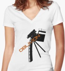Oblivion - Alton towers Women's Fitted V-Neck T-Shirt