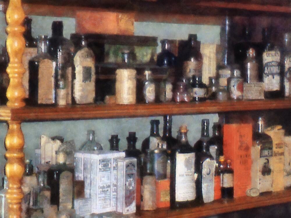 Bottles in General Store by Susan Savad