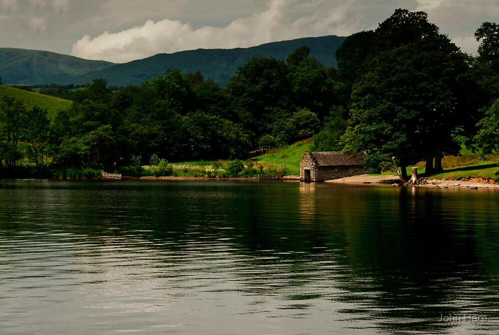 Boat House In The Bay by John Hare