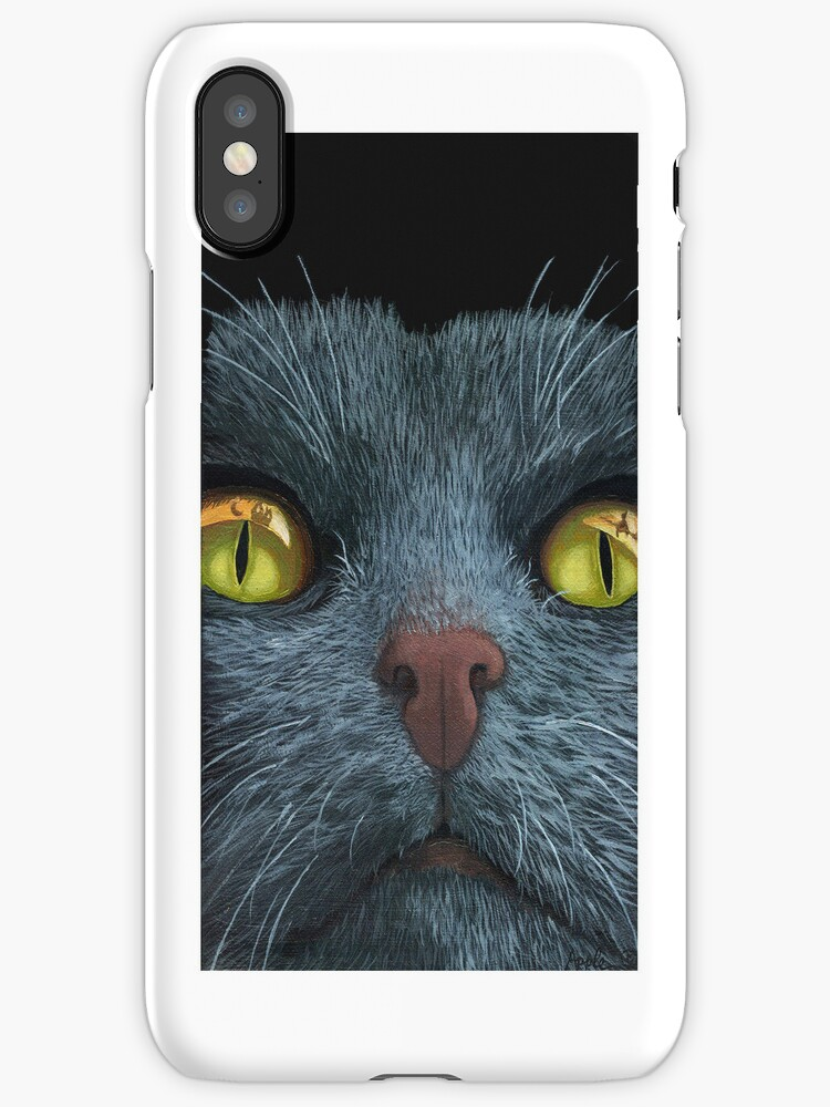 CAT VISIONS - iPhone case animal art by LindaAppleArt