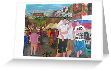Three Homies at Market by Jeanne Allgood