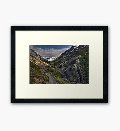 The Valley of Torres del Paine Framed Print