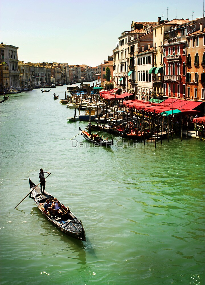 A gondola on the Great Canal of Venice, Italy by Daniel H Chui