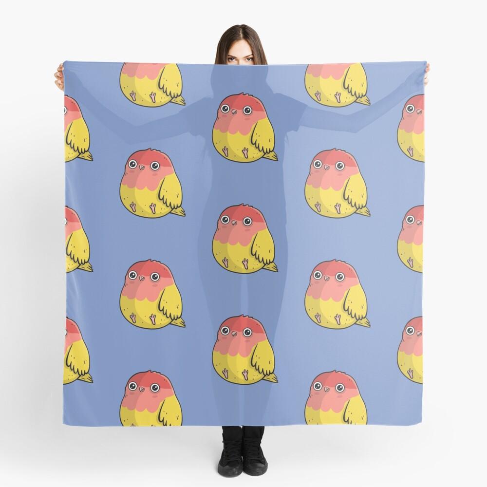 Cute Lutino Lovebird Chubby Bird Design Scarf