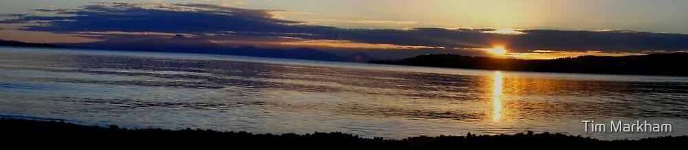 Sunset at Lake Taupo by Tim Markham