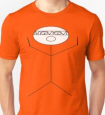 crazy criminal drummer stick figure T-Shirt
