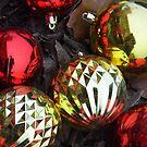 Three Gold Balls On The Ground by WildestArt