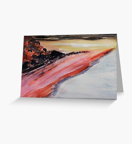 Beach to eternity, abstract, watercolor Greeting Card