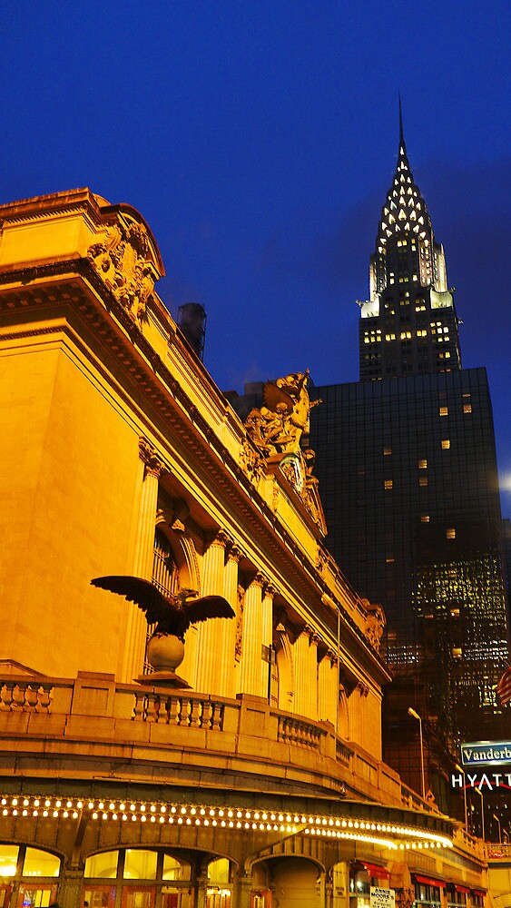 Grand Central Station & Chrysler by CraMation