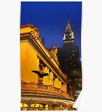Grand Central Station & Chrysler Poster